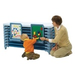 Angeles Premier Cot Activity Center Wedgewood Blue - 10 Cots