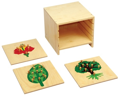Montessori Materials: Botany Puzzles With Cabinet