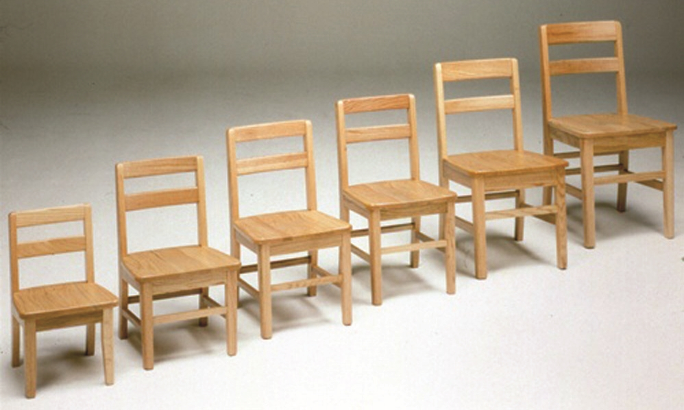 Montessori Materials Oak Classroom Chairs