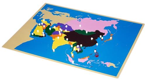 Montessori Materials Puzzle Map Of Asia