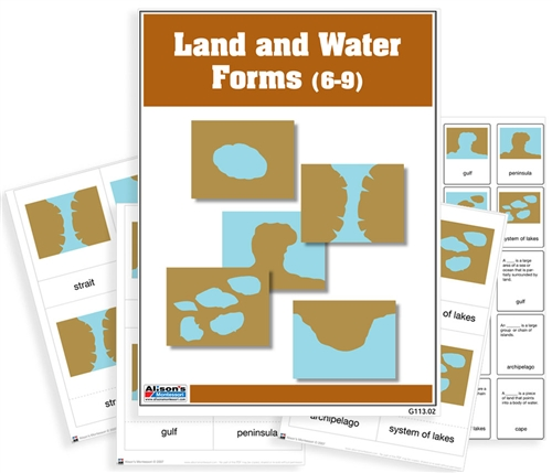 montessori materials  land and water forms nomenclature