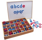 Magnetic Lowercase Movable Alphabets with Box