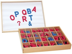 Magnetic Uppercase Movable Alphabets with Box