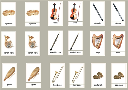 Picture Card Matching- Orchestra Instruments
