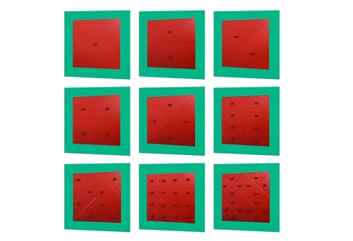 Montessori Materials Metal Squares and Rectangles used in geometry to ...
