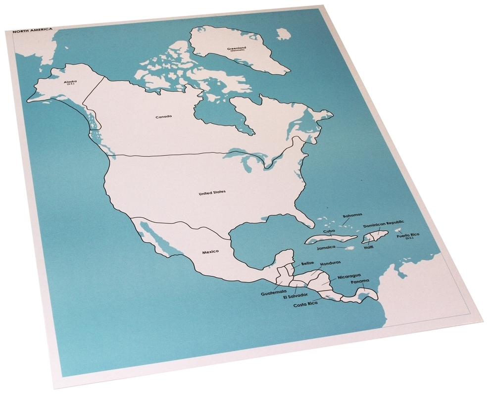 Map Of North America Labeled America Map