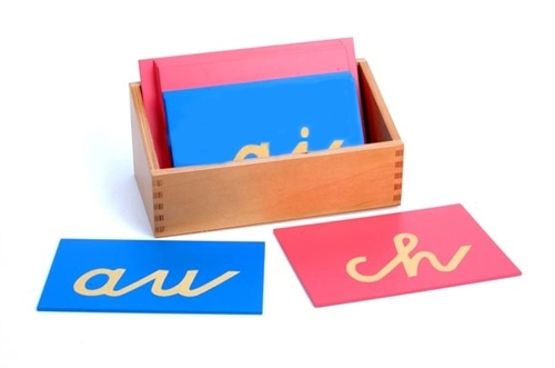 montessori language materials sandpaper double letters german cursive premium quality