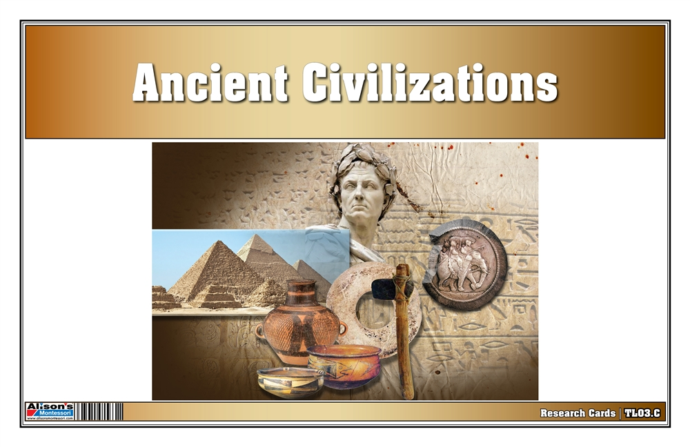 graphic about Ancient Civilizations Timeline Printable identified as Montessori Content: Historical Civilizations Timeline