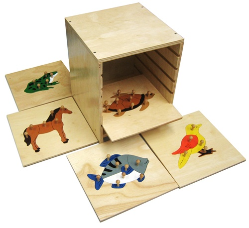 Zoology Puzzles With Cabinet