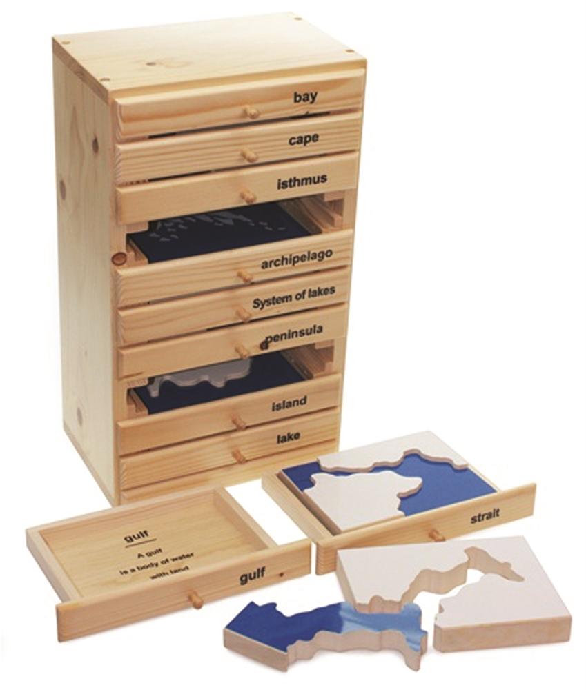 Alison's Montessori Land and Water Form Cabinet