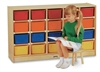 Montessori Materials - 20-Tray Mobile Cubbie (w/colored trays)