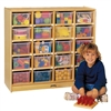 Montessori Materials- 20 Tray Mobile Storage (w/colored trays)