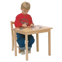 "24"" x 24"" Solid Birch Classroom Table (Solid Wood Top)"