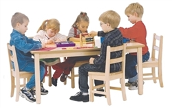 "24"" x 36"" Solid Birch Classroom Table (Solid Wood Top)"