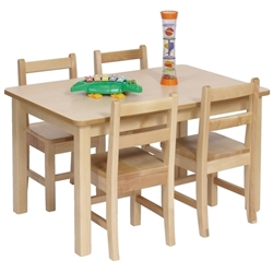 "24"" x 48"" Solid Birch Classroom Table (Solid Wood Top)"