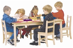 "30"" x 48"" Solid Birch Classroom Table (Solid Wood Top) - Rectangular"