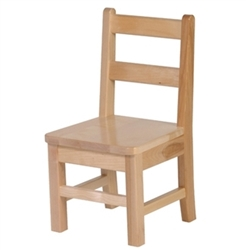 "Solid Birch Classroom Chair 12"" High"