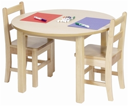 "Solid Maple Classroom Table (30"" Round)"