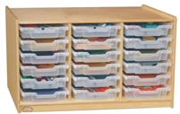 Montessori Materials - Shallow Tray Unit With Trays