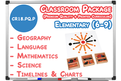 Premium Quality Lower Elementary Classroom (6-9) with Curriculum Materials