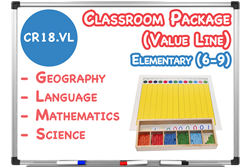 Lower Elementary Classroom (6-9) with Curriculum Materials
