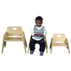 "8"" Stackable Wooden Toddler Chair"