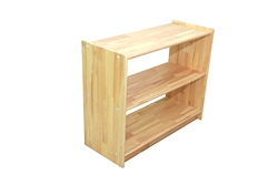 "Solid Rubber Wood Rectangular Classroom Shelf (36"" x 14"" x 29"" No Back)"