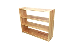 "Solid Rubber Wood Rectangular Classroom Shelf (48"" x 14"" x 29"" No Back)"