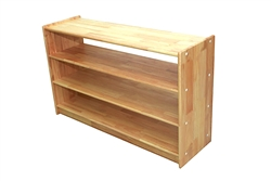 "Solid Rubber Wood Rectangular Classroom Shelf (48"" x 14"" x 40"" No Back)"