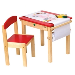 Montessori Materials - Art Table & Chair Set - Red