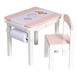 Montessori Materials - Art Table & Chair Set - Pink