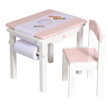 Art Table Chair Set Pink