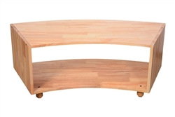 Two Tier curved open shelf