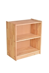 "24"" x 14"" x 30"" Solid Rubberwood Shelf with Back"