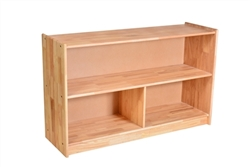 "Solid Rubberwood Shelf W/ Partition (48"" X 14"" x 29"")"
