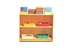 Small Rectangular Rubber Wood Shelf-With Back