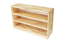 Medium Rectangular Rubber Wood Shelf- With Back