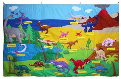 Felt Dinosaur Wall Chart