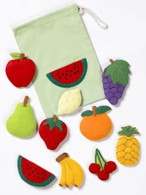 Montessori Materials Land Fruit Themed Felt Pieces
