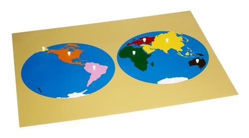 Montessori Materials Puzzle Map of the World