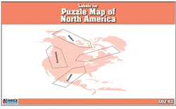 Labels for Puzzle Map of North America