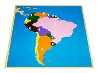 Puzzle Map of South America