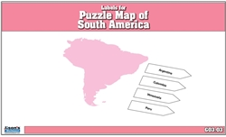 Labels for Puzzle Map of South America