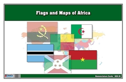Flags of Africa with Map Cards (Printed)