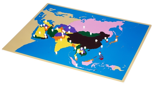 Montessori materials puzzle map of asia puzzle map of asia gumiabroncs Image collections