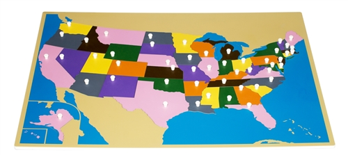 Montessori Materials Puzzle Map Of Usa