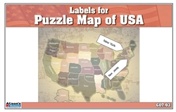 Labels for Puzzle Map of USA