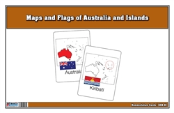 Flags of Australia and Islands with Map Nomenclature Cards (Printed)