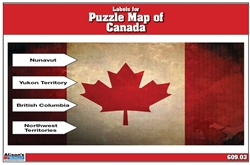 Labels for Puzzle Map of Canada