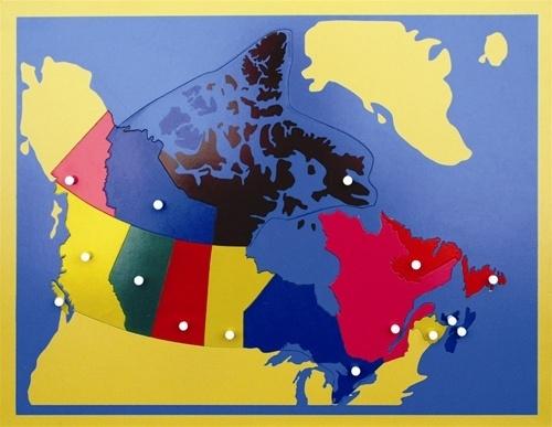 Montessori Materials Puzzle Map of Canada
